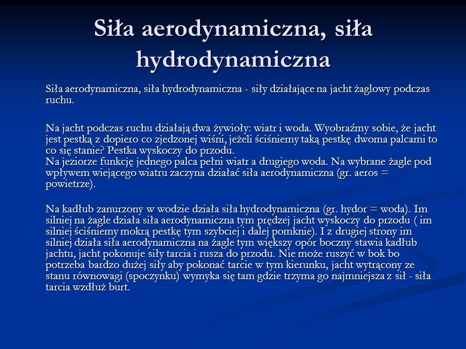Siła aerodynamiczna, siła hydrodynamiczna