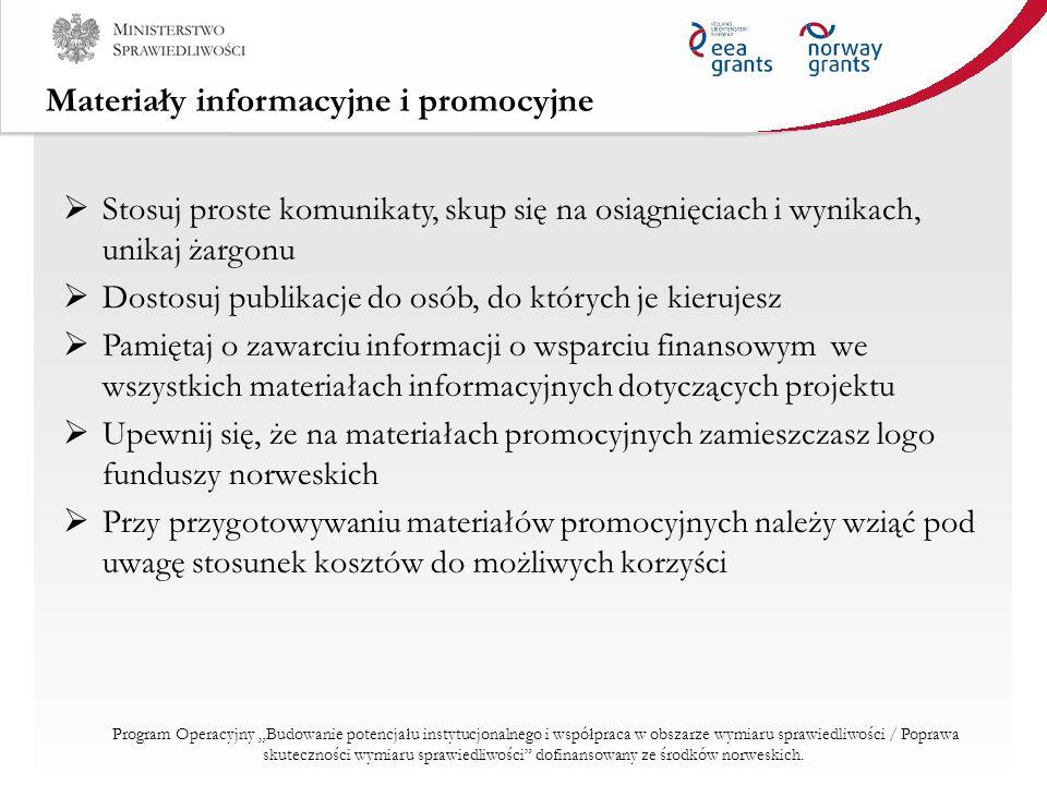 Materiały informacyjne i promocyjne