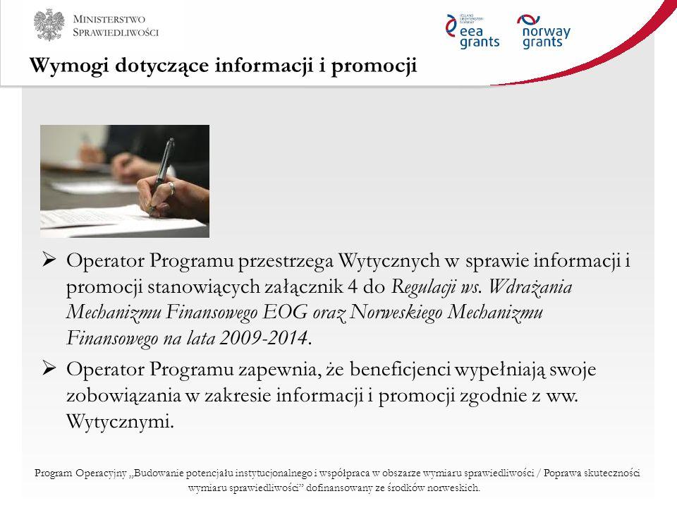 Wymogi dotyczące informacji i promocji