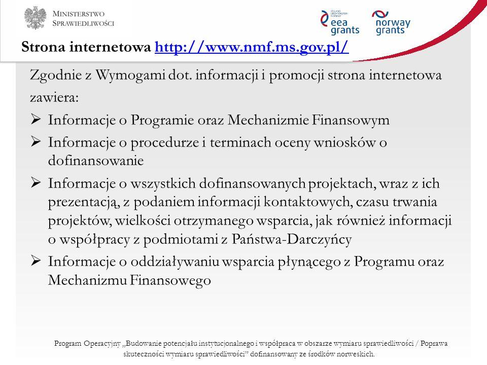 Strona internetowa http://www.nmf.ms.gov.pl/