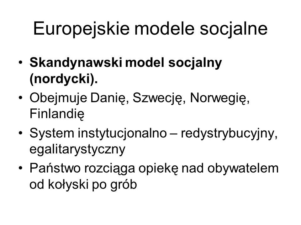 Europejskie modele socjalne