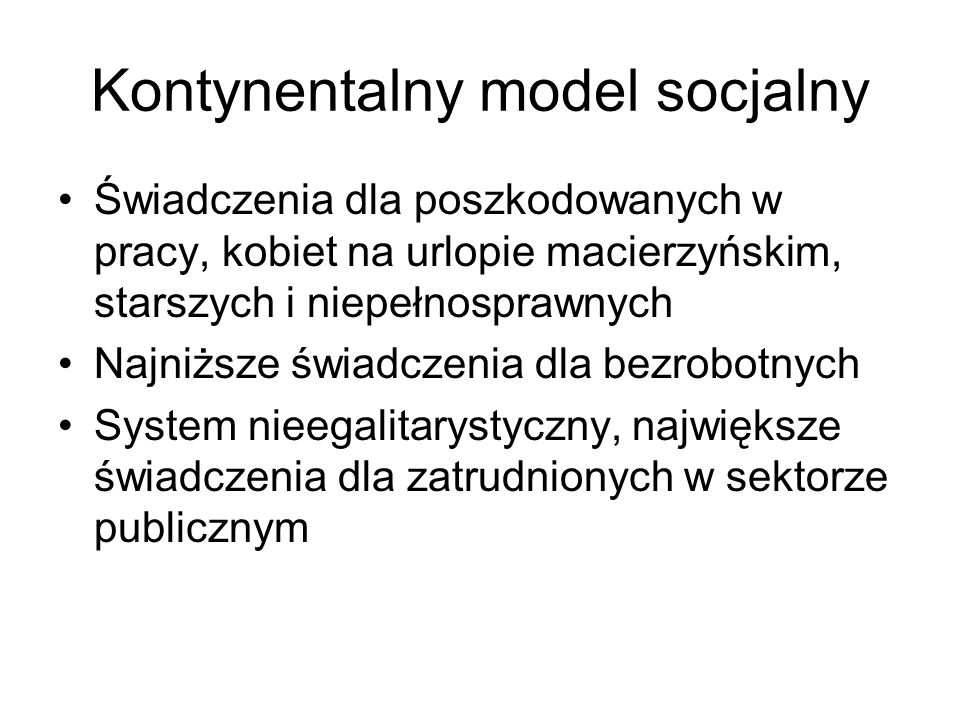 Kontynentalny model socjalny