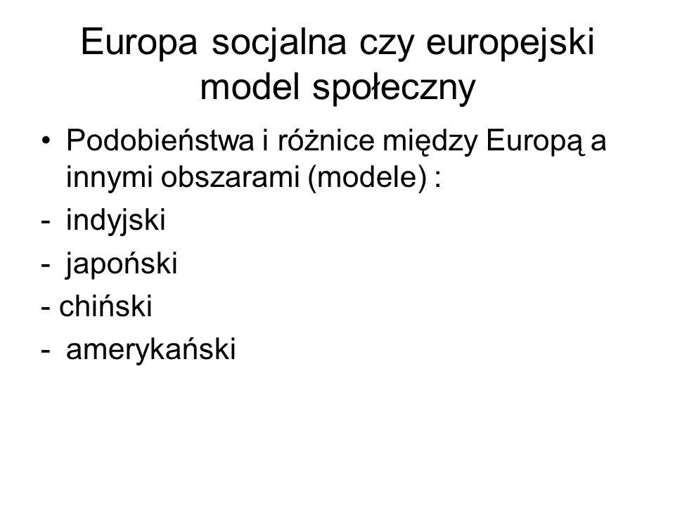 Europa socjalna czy europejski model społeczny