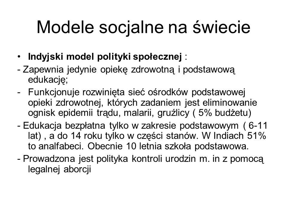 Modele socjalne na świecie