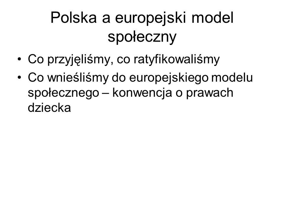 Polska a europejski model społeczny