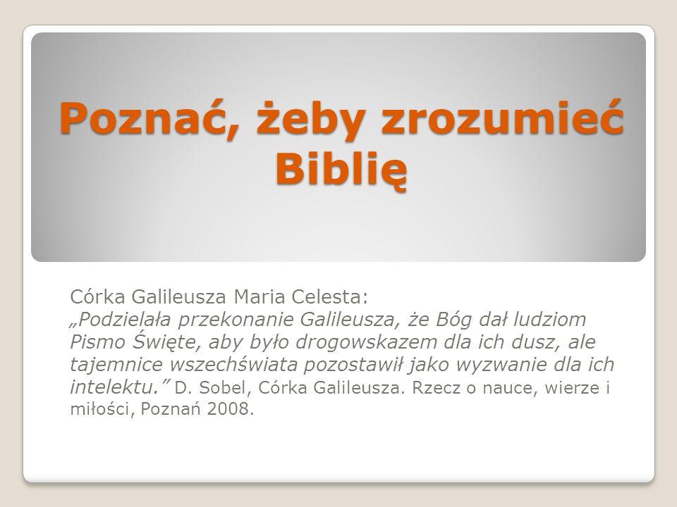 Poznać, żeby zrozumieć Biblię