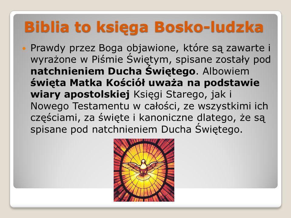 Biblia to księga Bosko-ludzka