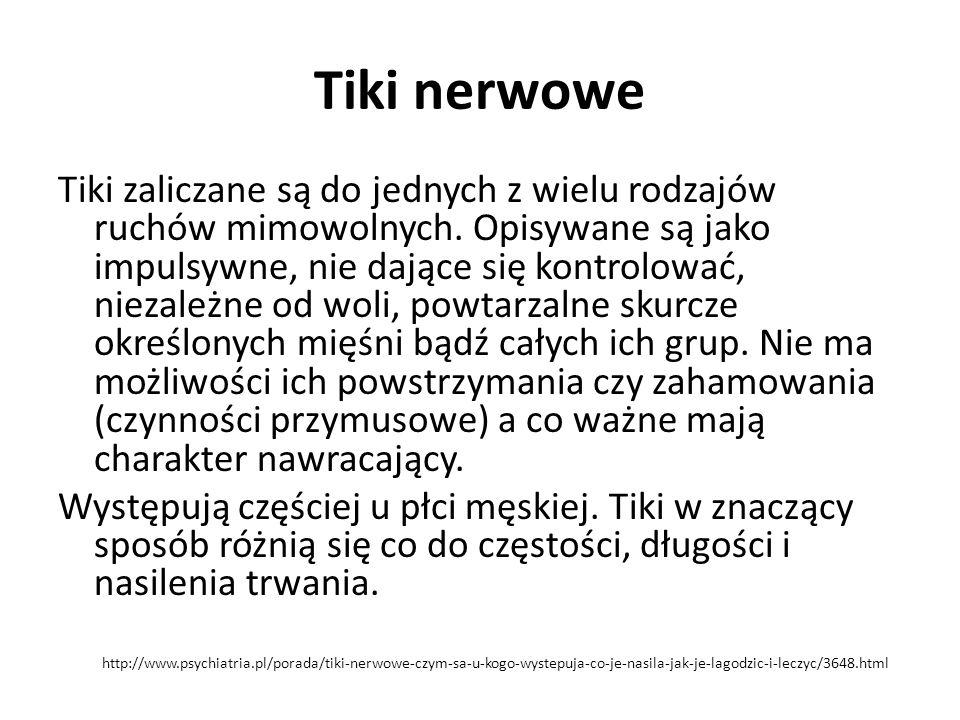 Tiki nerwowe