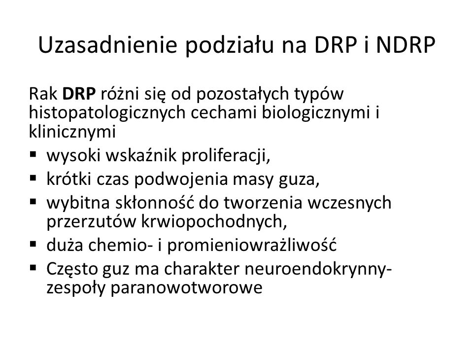 Uzasadnienie podziału na DRP i NDRP