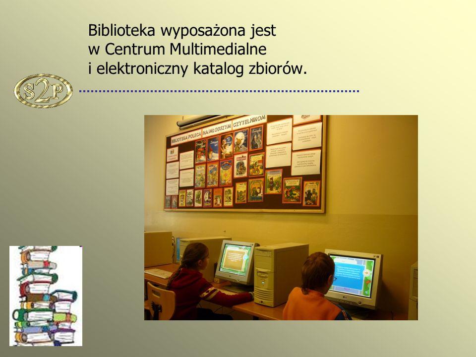 Biblioteka wyposażona jest w Centrum Multimedialne i elektroniczny katalog zbiorów.