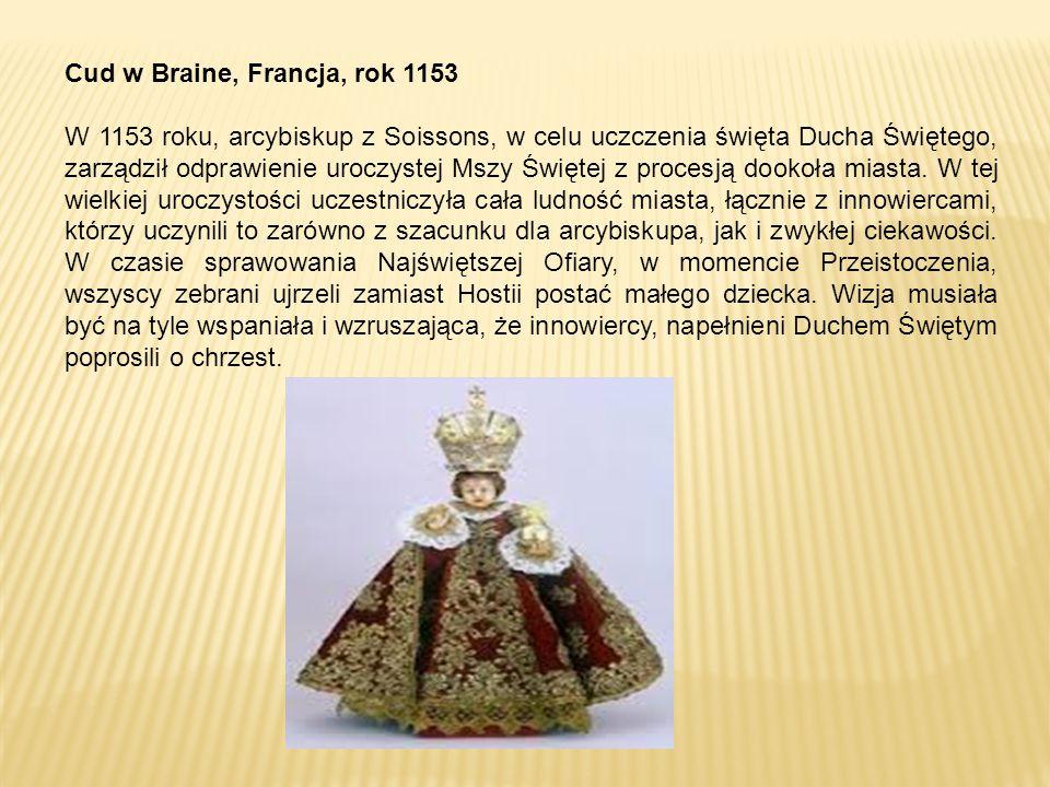 Cud w Braine, Francja, rok 1153