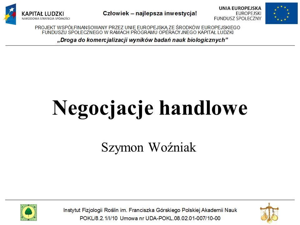 Negocjacje handlowe Szymon Woźniak