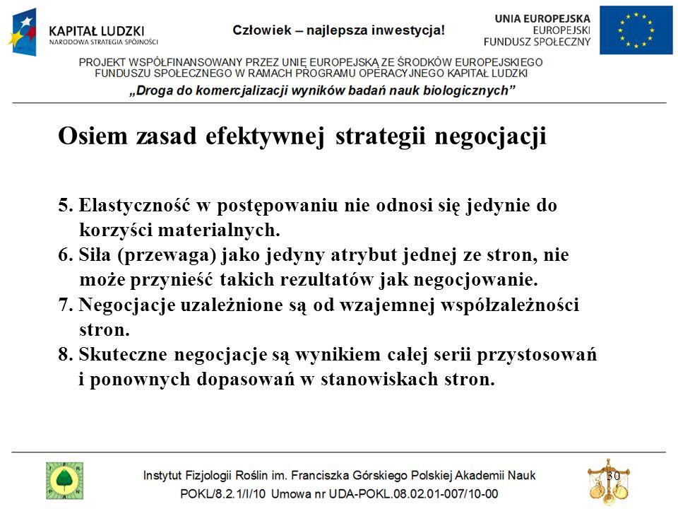 Osiem zasad efektywnej strategii negocjacji 5