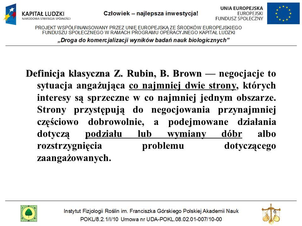 Definicja klasyczna Z. Rubin, B