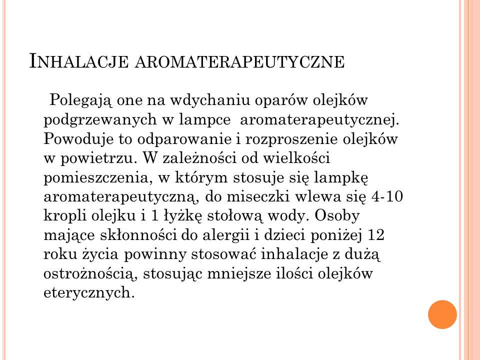 Inhalacje aromaterapeutyczne