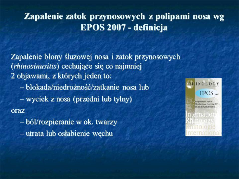 Zapalenie zatok przynosowych z polipami nosa wg EPOS 2007 - definicja