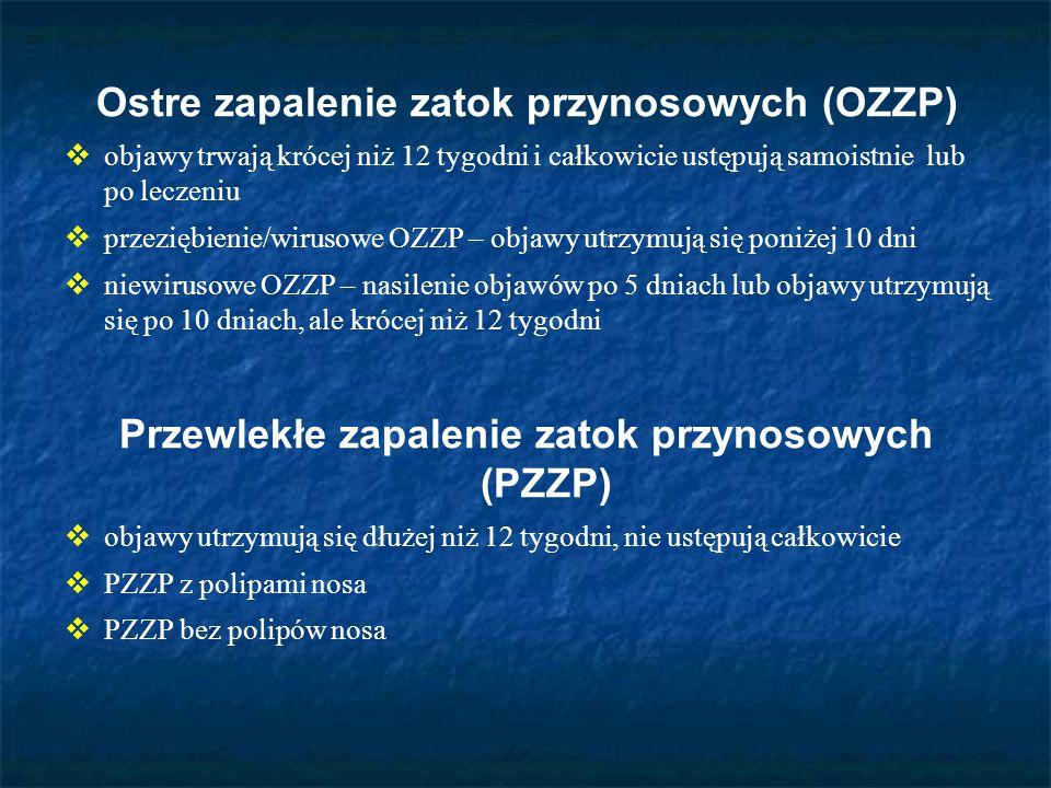 Ostre zapalenie zatok przynosowych (OZZP)