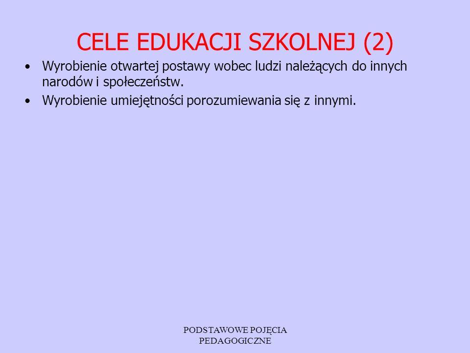 CELE EDUKACJI SZKOLNEJ (2)