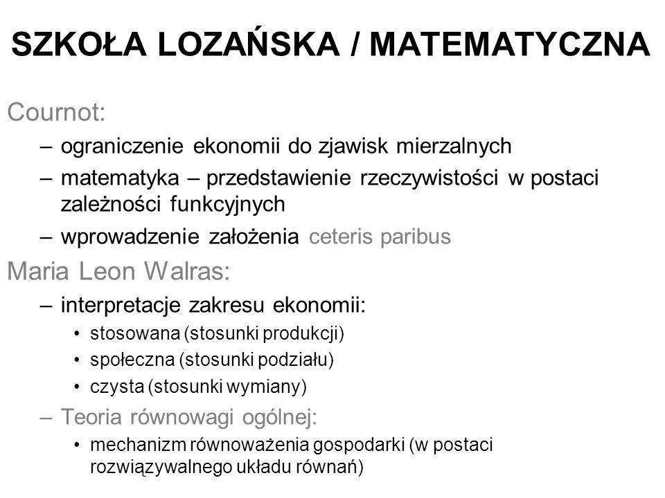 SZKOŁA LOZAŃSKA / MATEMATYCZNA