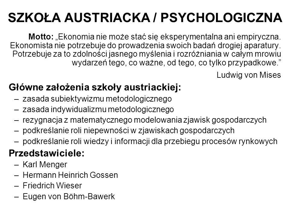 SZKOŁA AUSTRIACKA / PSYCHOLOGICZNA