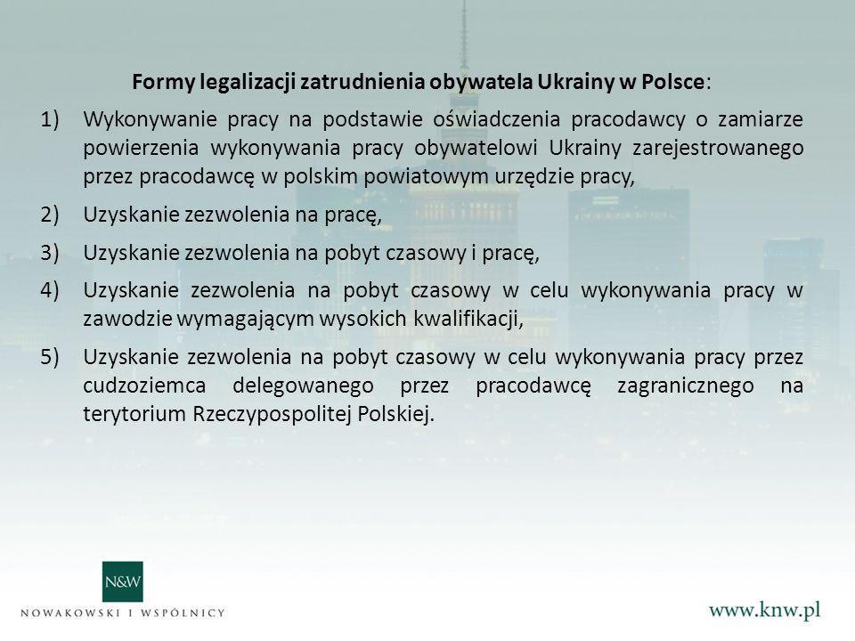Formy legalizacji zatrudnienia obywatela Ukrainy w Polsce: