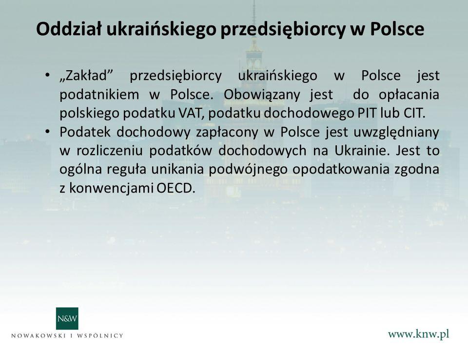 Oddział ukraińskiego przedsiębiorcy w Polsce
