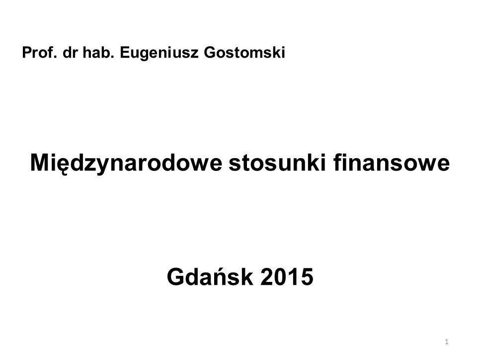 Międzynarodowe stosunki finansowe