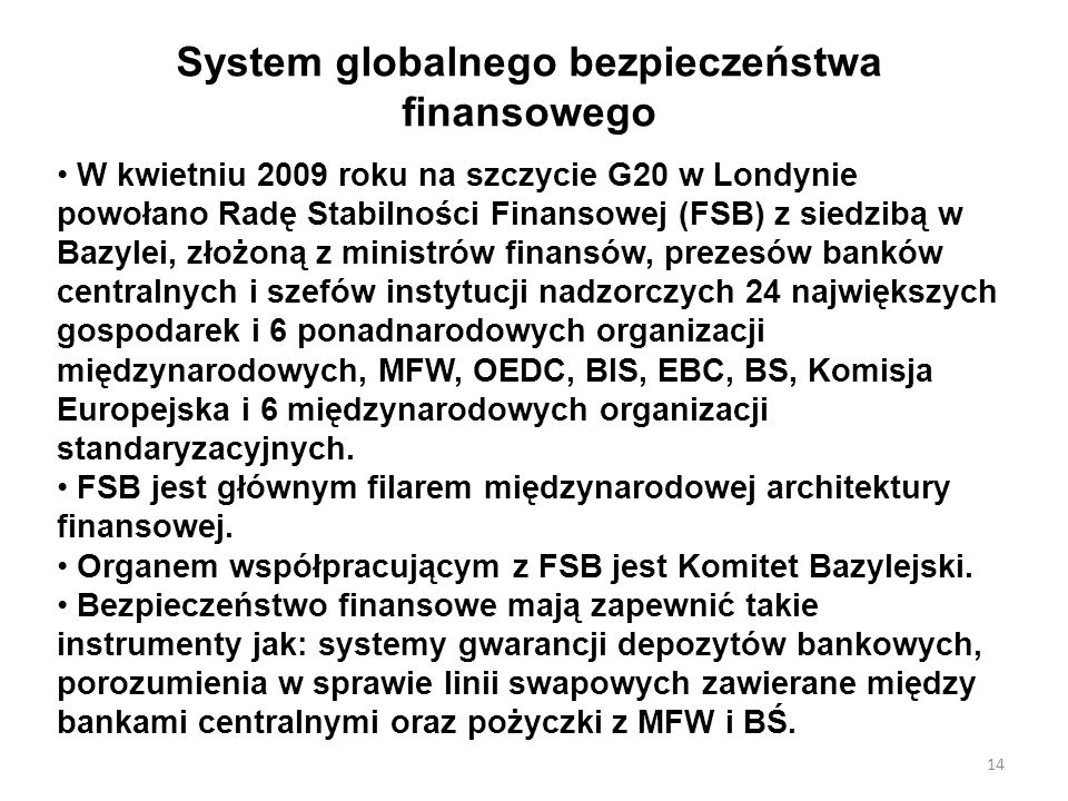 System globalnego bezpieczeństwa finansowego