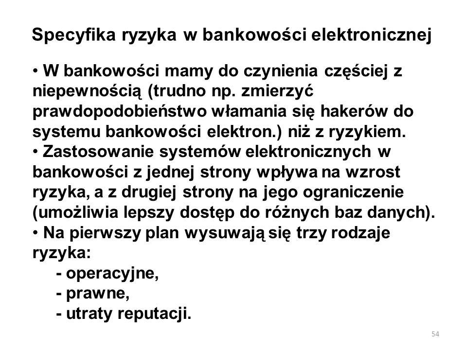 Specyfika ryzyka w bankowości elektronicznej