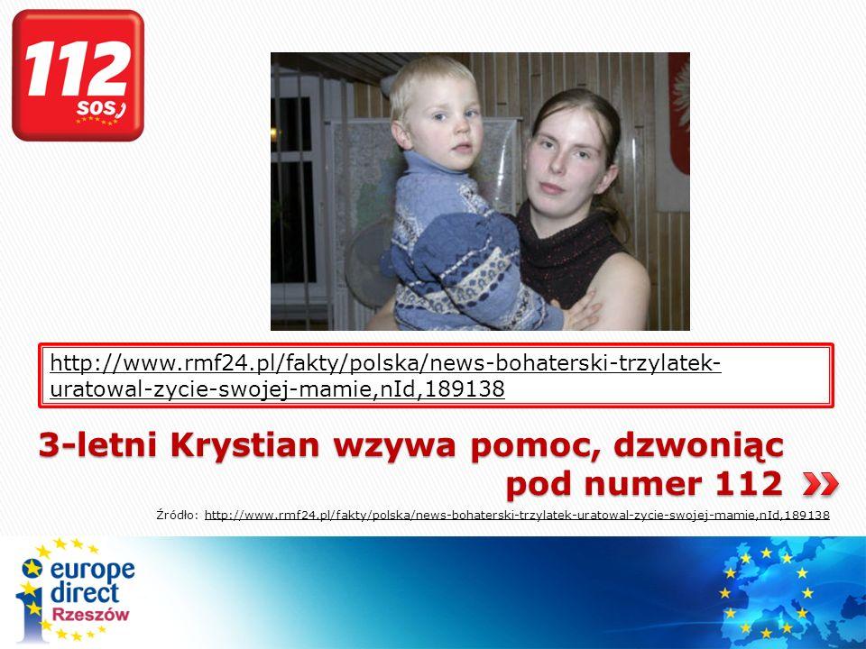 3-letni Krystian wzywa pomoc, dzwoniąc pod numer 112