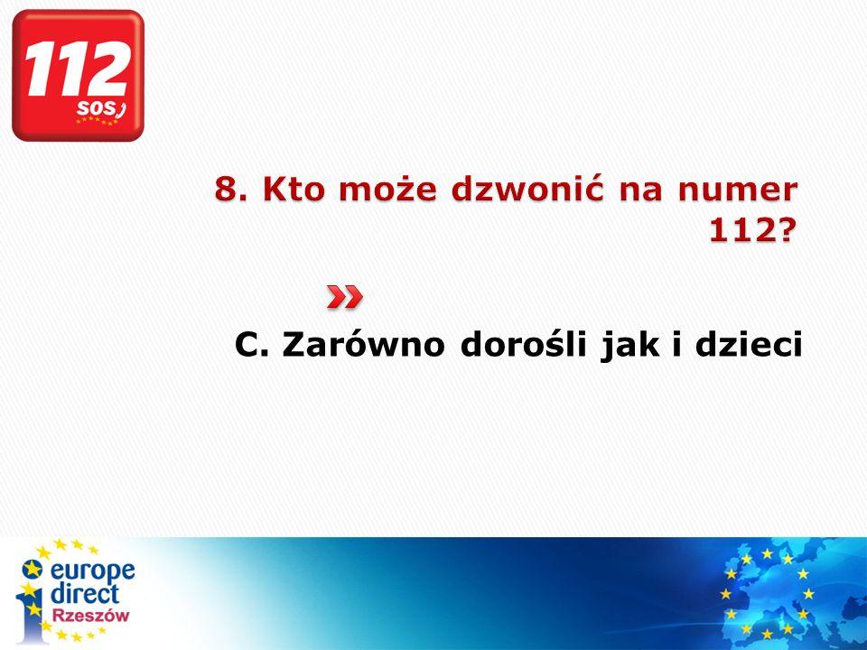 8. Kto może dzwonić na numer 112