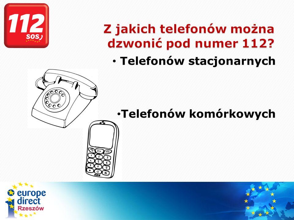 Z jakich telefonów można dzwonić pod numer 112