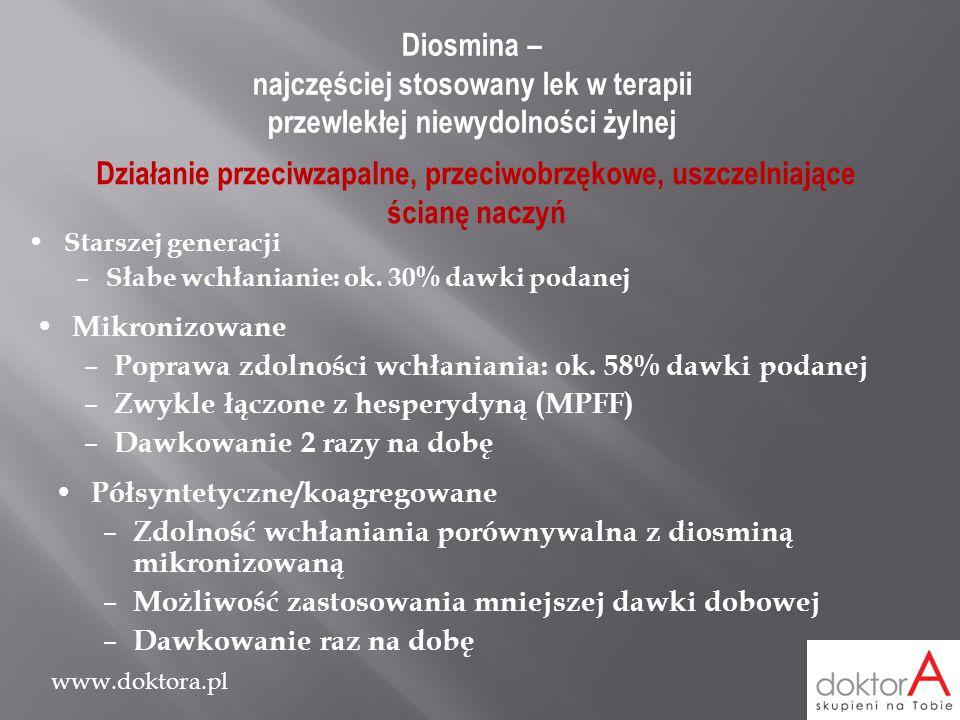 Diosmina – najczęściej stosowany lek w terapii