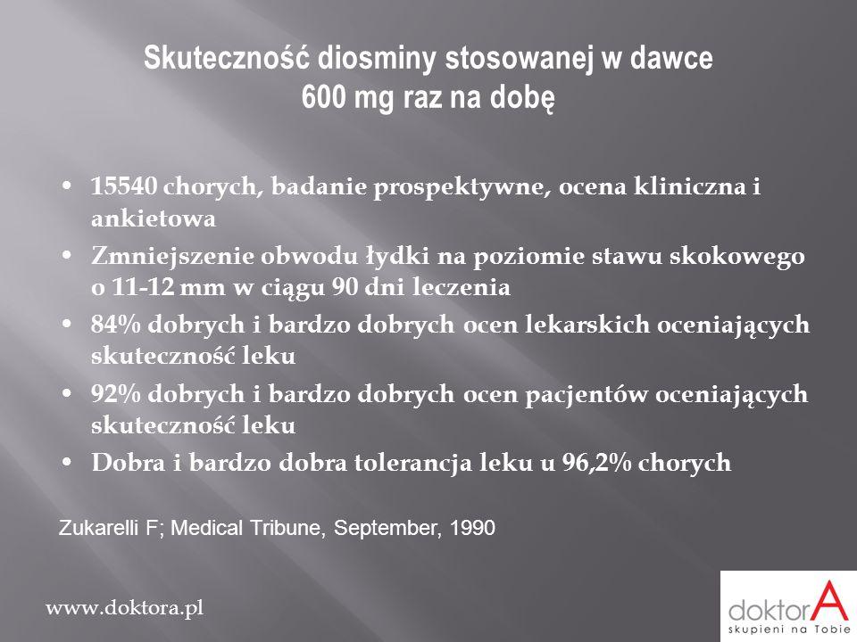 Skuteczność diosminy stosowanej w dawce