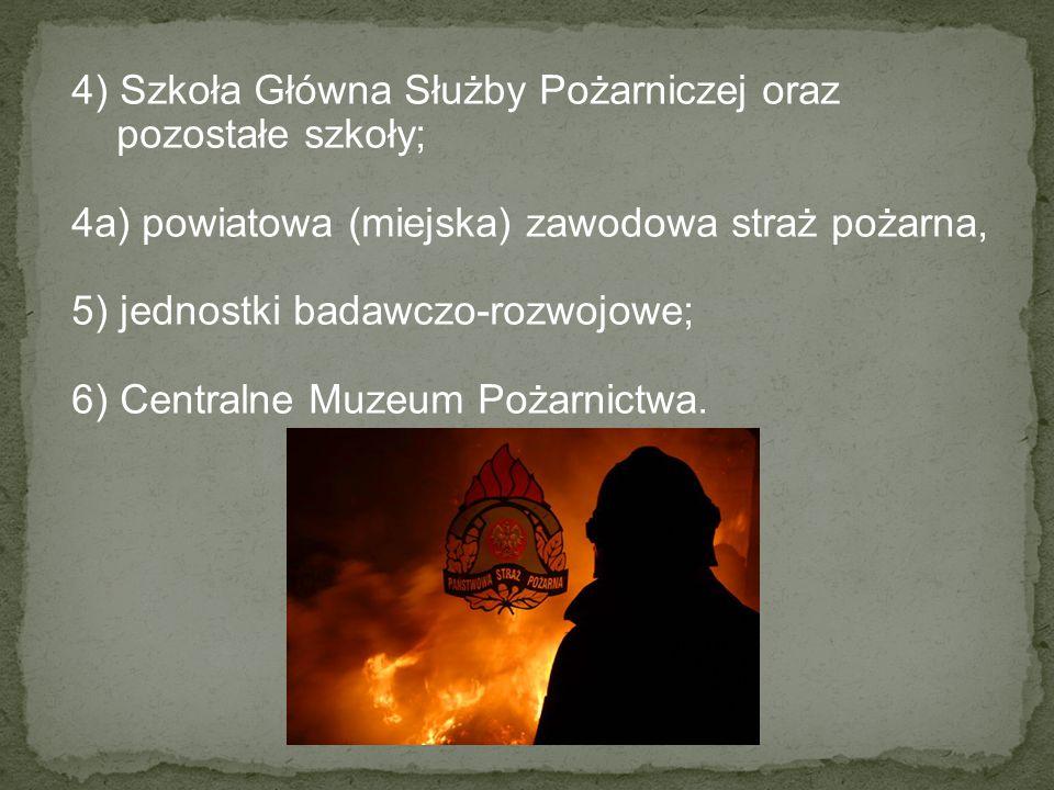 4) Szkoła Główna Służby Pożarniczej oraz pozostałe szkoły;
