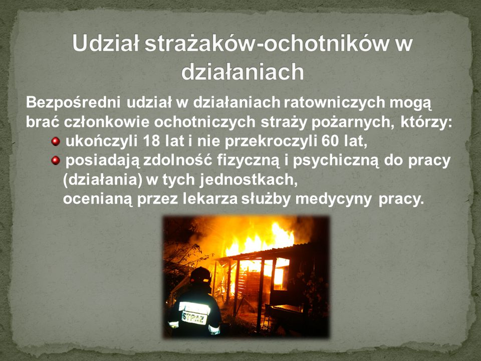 Udział strażaków-ochotników w działaniach