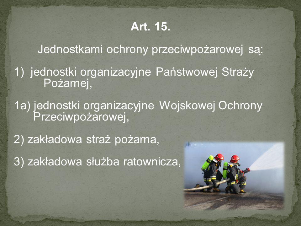 Jednostkami ochrony przeciwpożarowej są: