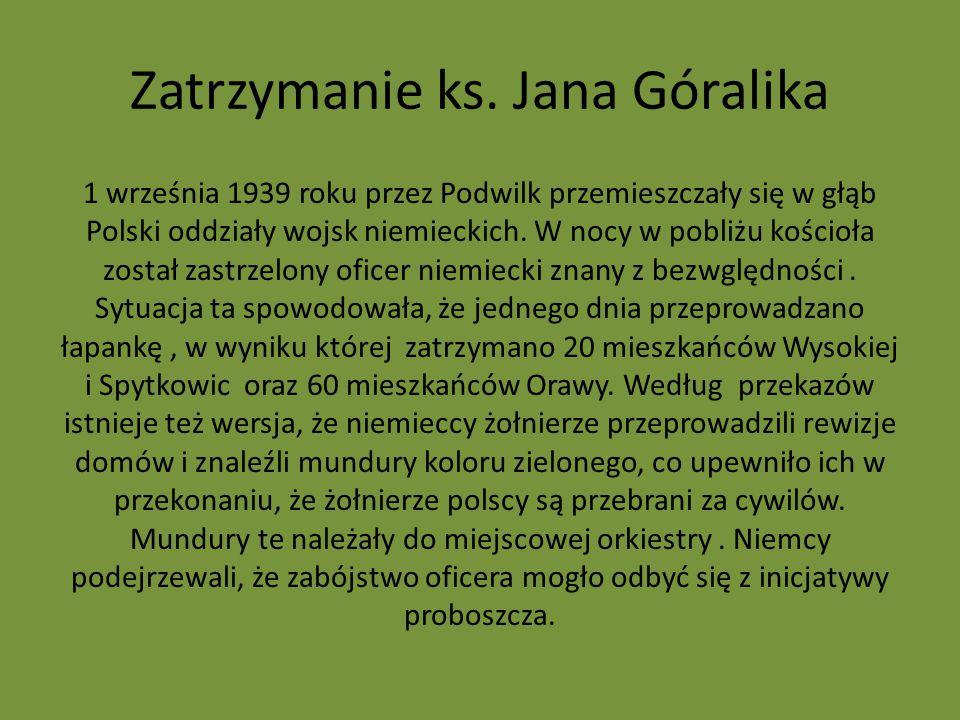Zatrzymanie ks. Jana Góralika