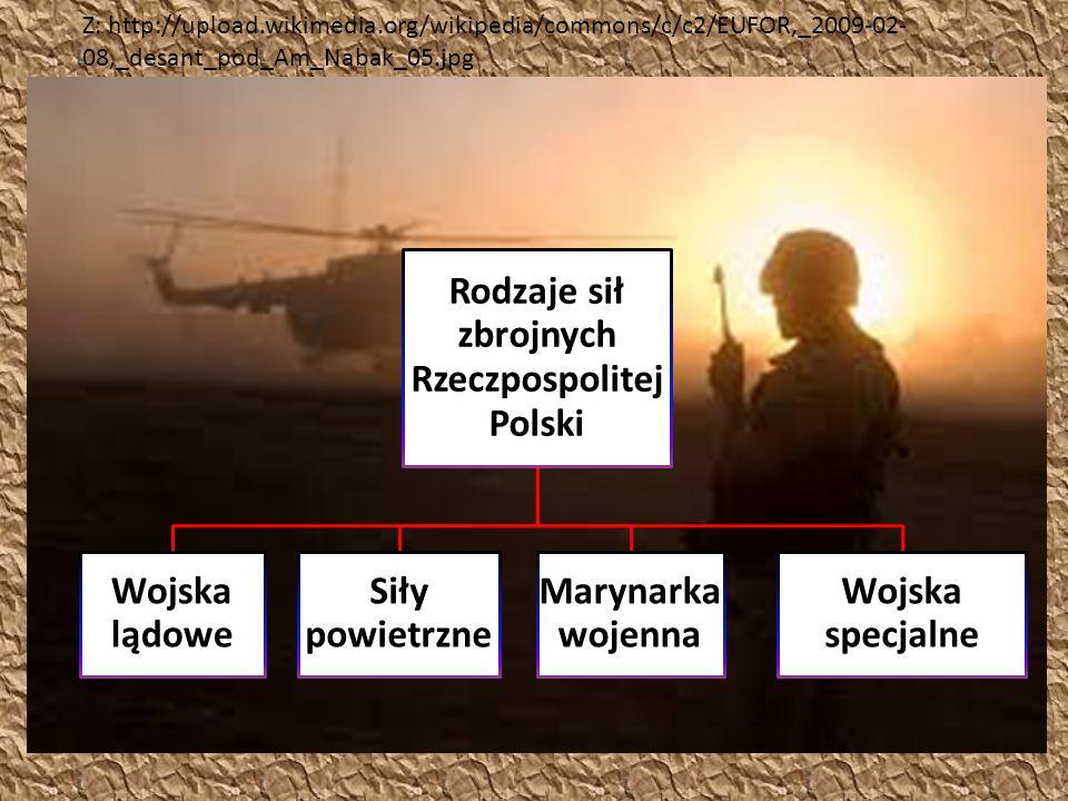 Rodzaje sił zbrojnych Rzeczpospolitej Polski