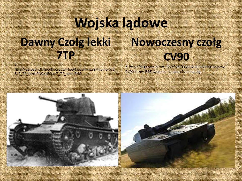 Wojska lądowe Dawny Czołg lekki 7TP Nowoczesny czołg CV90