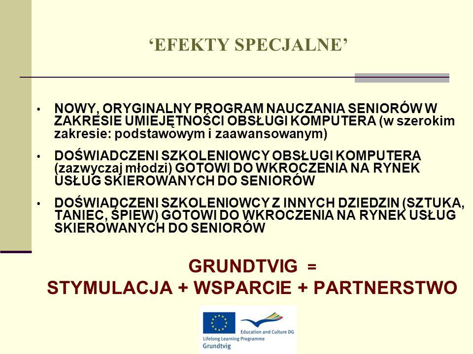 STYMULACJA + WSPARCIE + PARTNERSTWO