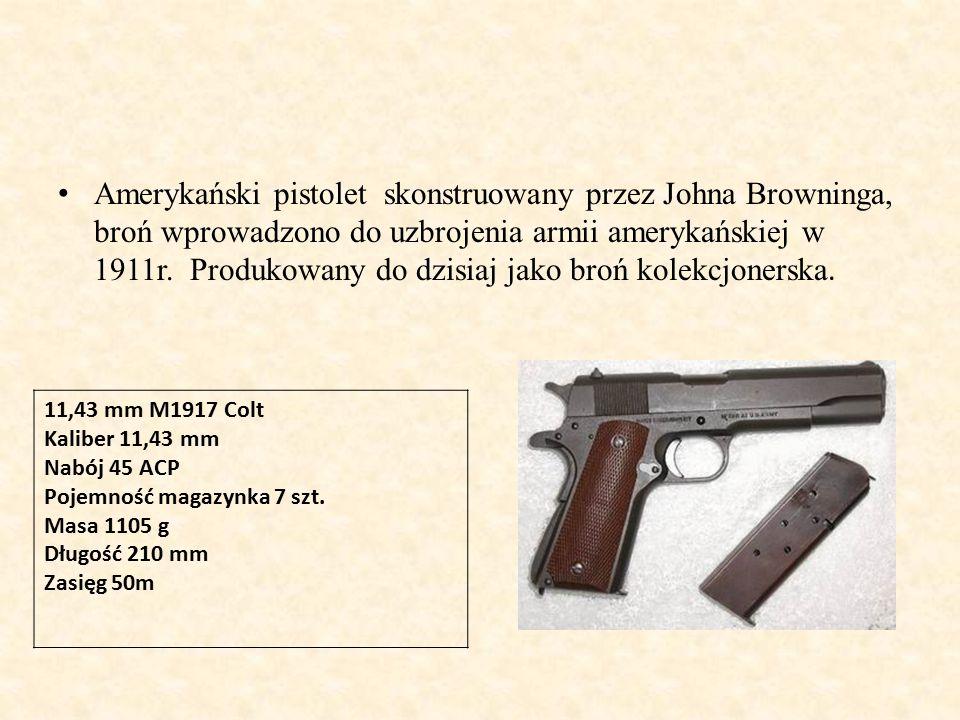 Amerykański pistolet skonstruowany przez Johna Browninga, broń wprowadzono do uzbrojenia armii amerykańskiej w 1911r. Produkowany do dzisiaj jako broń kolekcjonerska.