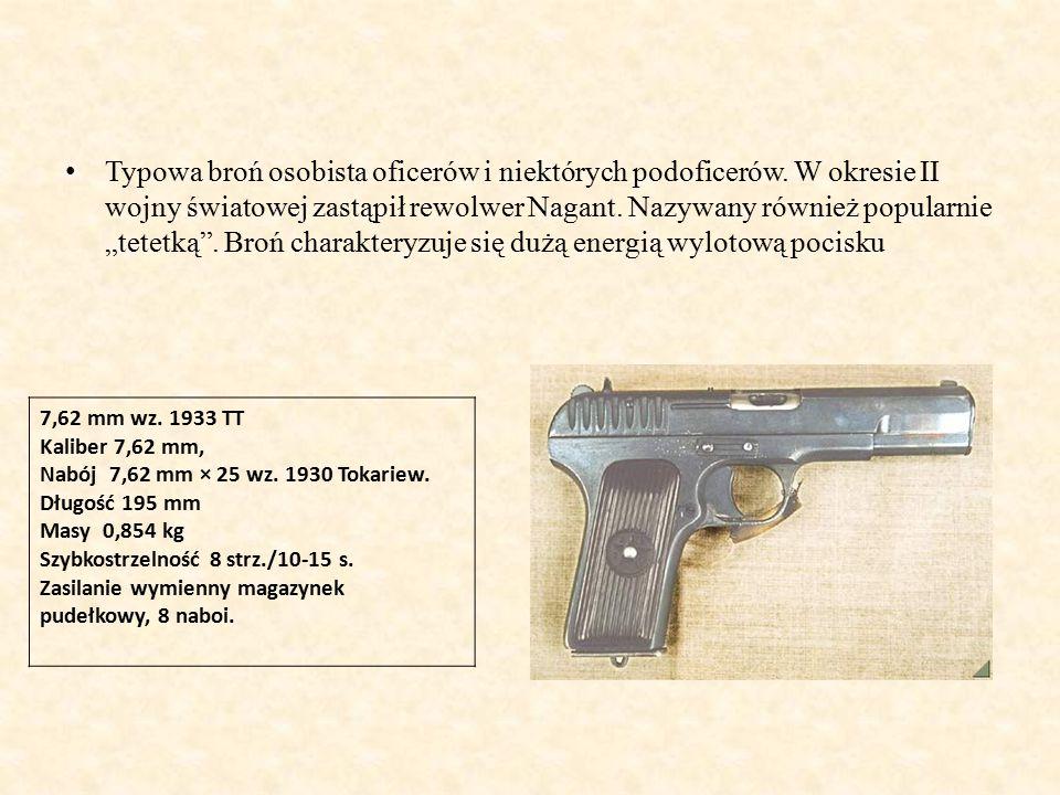Typowa broń osobista oficerów i niektórych podoficerów