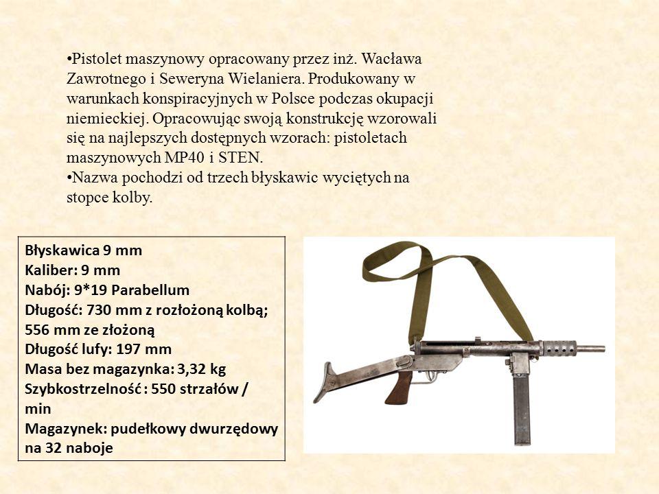 Pistolet maszynowy opracowany przez inż