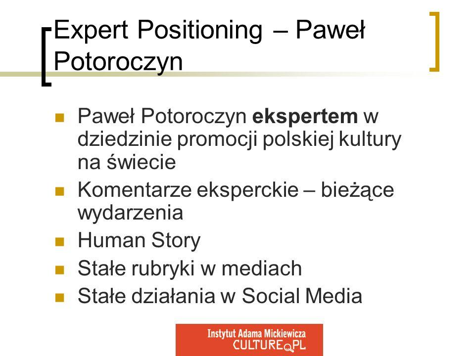 Expert Positioning – Paweł Potoroczyn