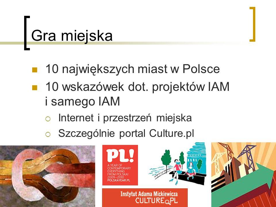 Gra miejska 10 największych miast w Polsce