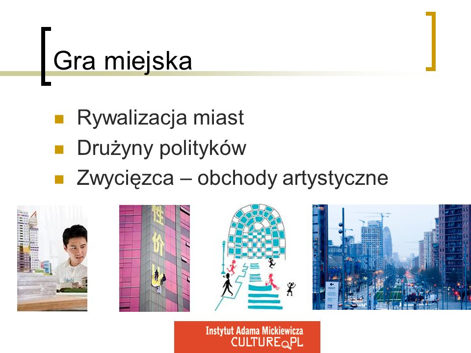 Gra miejska Rywalizacja miast Drużyny polityków