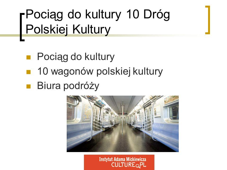 Pociąg do kultury 10 Dróg Polskiej Kultury