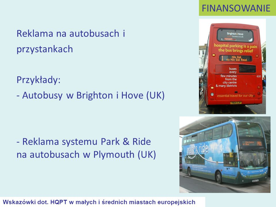 Reklama na autobusach i przystankach Przykłady: