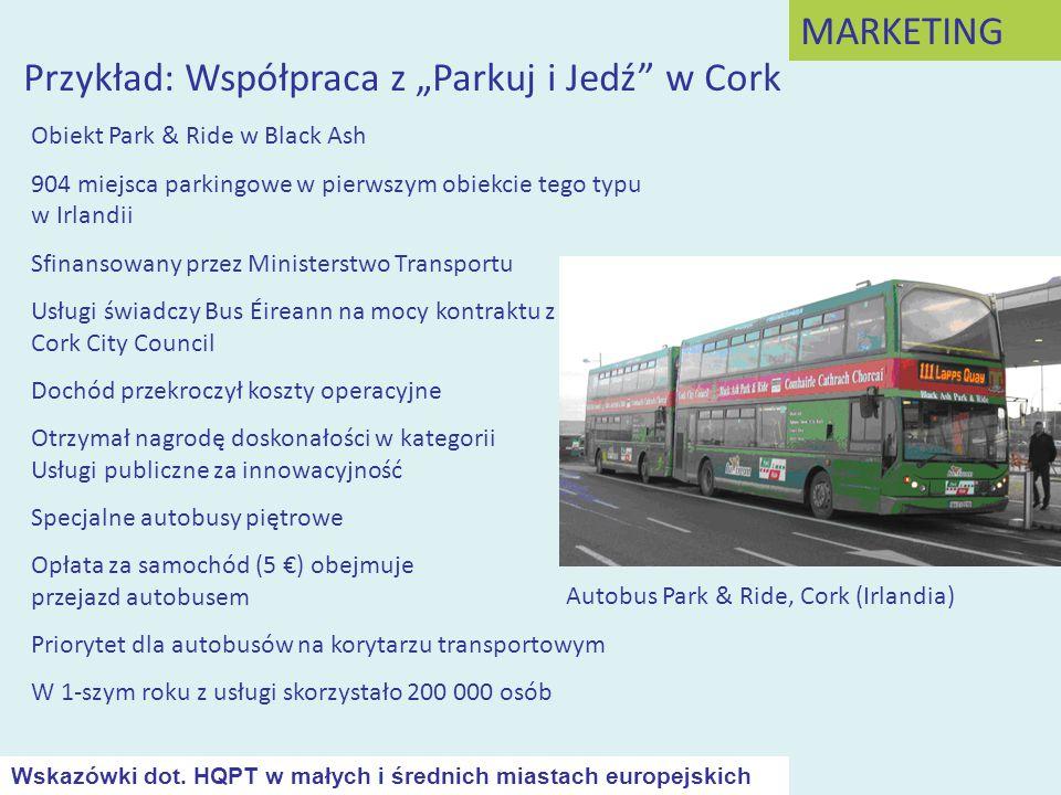 """Przykład: Współpraca z """"Parkuj i Jedź w Cork"""